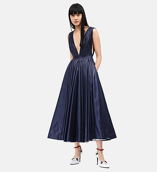 CALVIN KLEIN Deep V-Neck Couture Tent Dress - NAVY - CALVIN KLEIN 205W39NYC - main image