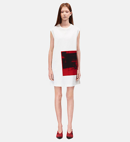CALVINKLEIN Little Electric Chair mouwloze jurk - WHITE/RED - CALVIN KLEIN KLEDING - main image
