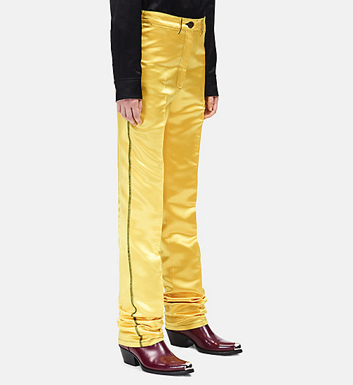 CALVINKLEIN Satin Uniform Trousers - YELLOW - CALVIN KLEIN CLOTHES - detail image 1