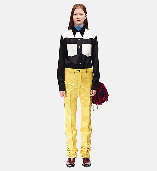 CALVIN KLEIN Satin Uniform Trousers - YELLOW - CALVIN KLEIN SALE - detail image 1