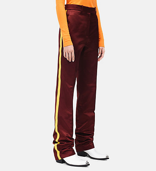 CALVINKLEIN Satin Uniform Stripe Trousers - TOBACCO - CALVIN KLEIN CLOTHES - detail image 1