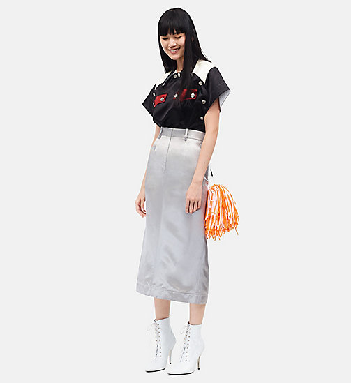 CALVINKLEIN Midi Pencil Skirt - IMPERIAL GREY -  CLOTHES - main image