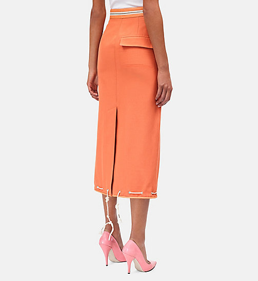 CALVIN KLEIN Tent Pencil Skirt - BRIGHT RUST - CALVIN KLEIN SALE - detail image 1