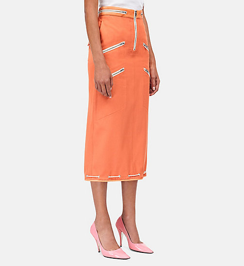 CALVIN KLEIN Tent Pencil Skirt - BRIGHT RUST - CALVIN KLEIN WOMEN - main image
