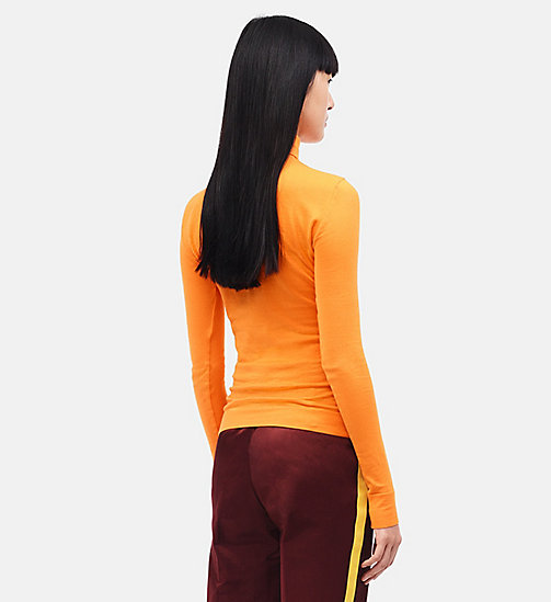 CALVINKLEIN 205W39NYC Turtleneck - ORANGE - CALVIN KLEIN CLOTHES - detail image 1