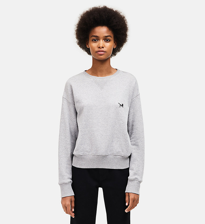 CALVINKLEIN French Terry Crew Neck Sweatshirt - BLACK - CALVIN KLEIN UNDERWEAR - main image