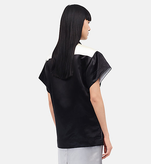 CALVINKLEIN Diner Uniform Round Shirt - BLACK - CALVIN KLEIN CLOTHES - detail image 1