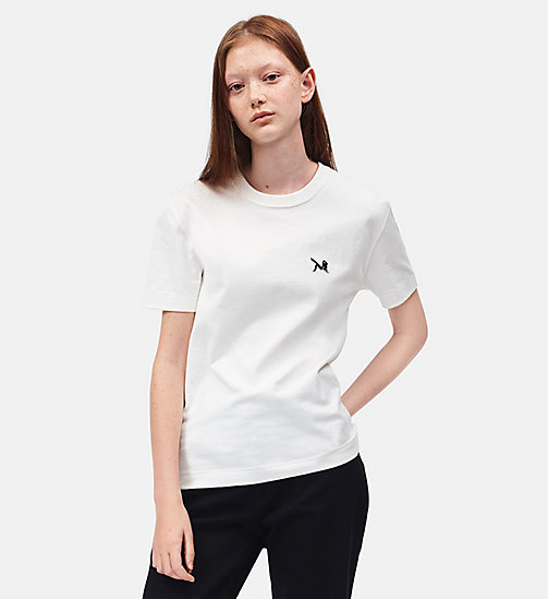 CALVINKLEIN Brooke Shields Patch T-shirt - WHITE - CALVIN KLEIN CLOTHES - main image