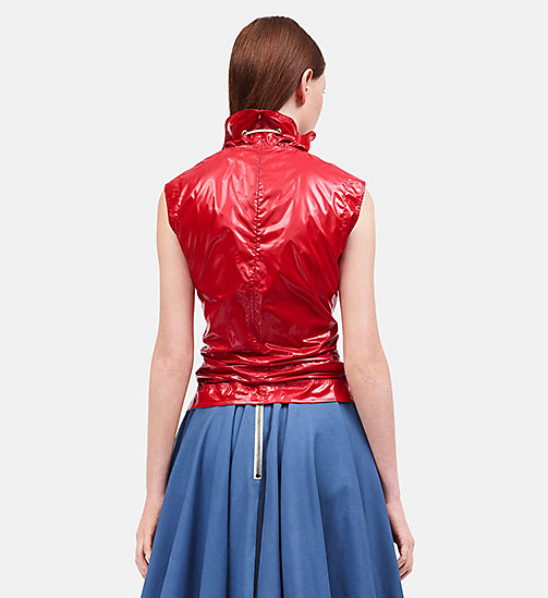 CALVINKLEIN Lightweight Nylon Sleeveless Top - BRIGHT SCARLET - CALVIN KLEIN CLOTHES - detail image 1