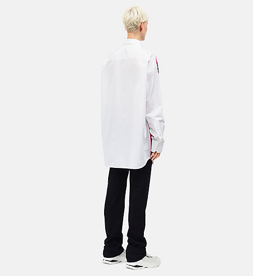 CALVINKLEIN Little Electric Chair Oversized Shirt - WHITE MAUVE GLOW - CALVIN KLEIN CLOTHES - detail image 1