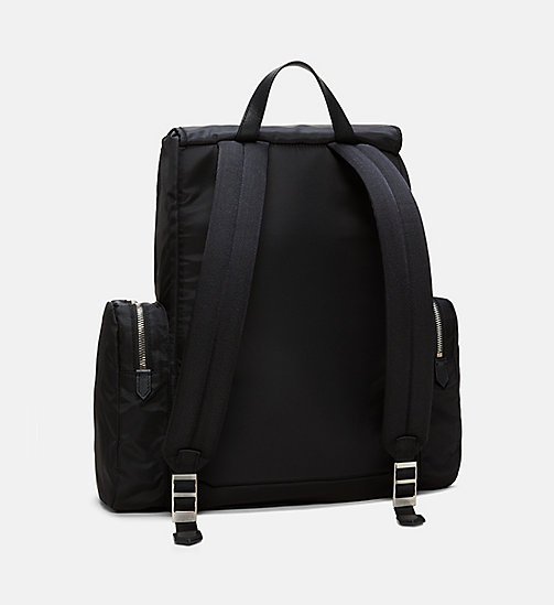 205W39NYC Embroidered Flap Backpack - BLACK / WHITE - 205W39NYC SHOES & ACCESSORIES - detail image 1