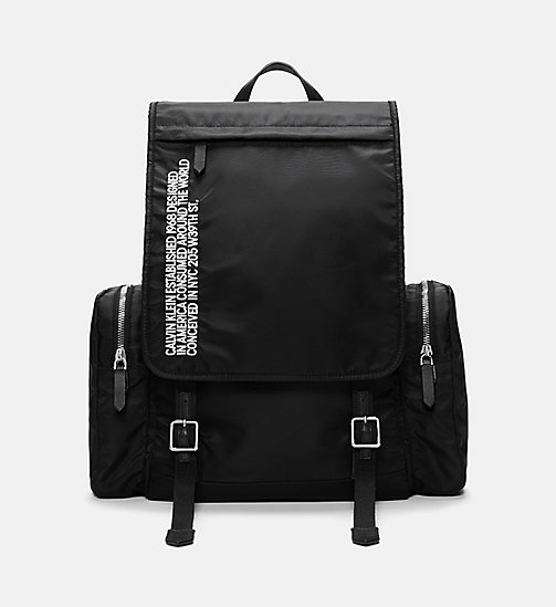 205W39NYC Embroidered Flap Backpack - BLACK/WHITE - 205W39NYC SHOES & ACCESSORIES - main image