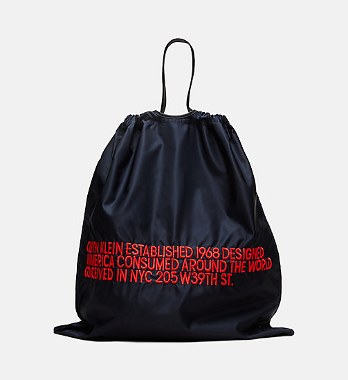 205W39NYC Oversized Embroidered Drawstring Pouch - DARK NAVY RED - 205W39NYC SHOES & ACCESSORIES - main image