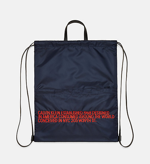 205W39NYC Embroidered Drawstring Backpack - DARK NAVY RED - 205W39NYC SHOES & ACCESSORIES - detail image 1