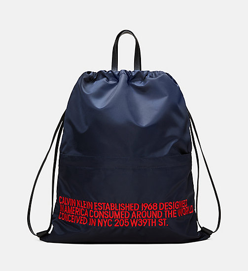 205W39NYC Embroidered Drawstring Backpack - DARK NAVY RED - 205W39NYC SHOES & ACCESSORIES - main image