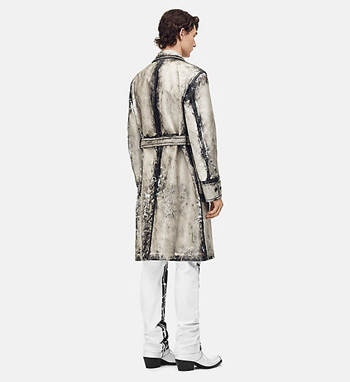 205W39NYC Trench Coat in X-Ray Painted Leather - WHITE - 205W39NYC CLOTHES - detail image 1