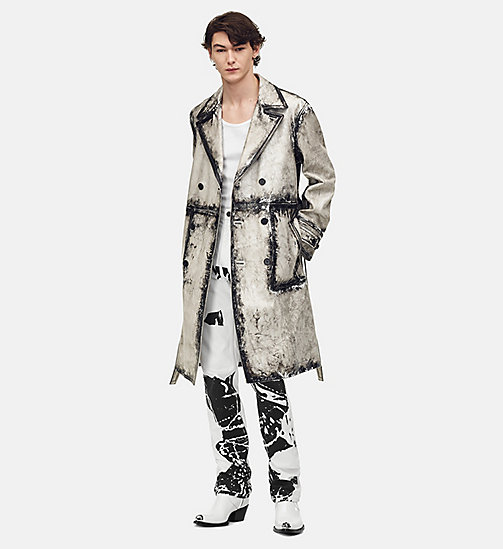 205W39NYC Trench Coat in X-Ray Painted Leather - WHITE - 205W39NYC CLOTHES - main image