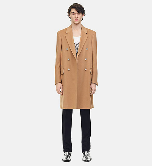 205W39NYC Double Breasted Overcoat in Wool - CAMEL - 205W39NYC CLOTHES - main image