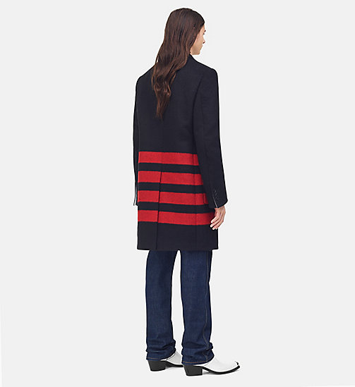 205W39NYC Single Breasted Blanket Coat - BLACK/RED - 205W39NYC CLOTHES - detail image 1