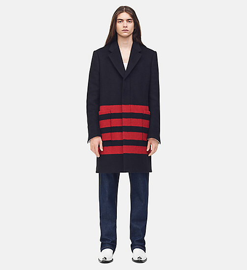 205W39NYC Single Breasted Blanket Coat - BLACK RED - 205W39NYC CLOTHES - main image