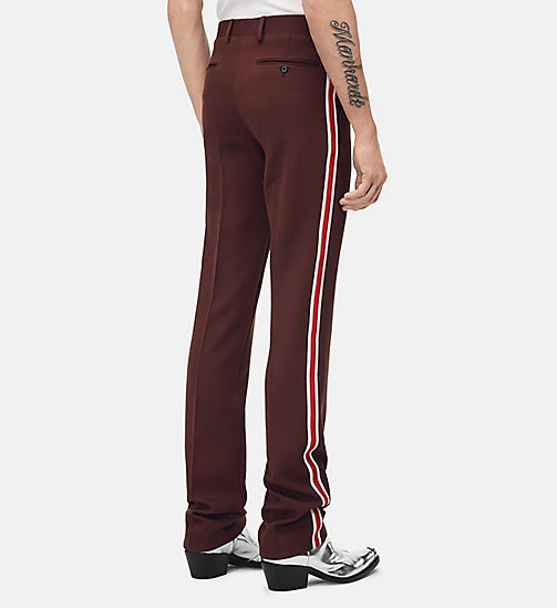 205W39NYC Uniform Stripe Trousers - BROWN - 205W39NYC CLOTHES - detail image 1