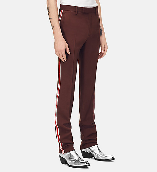 205W39NYC Uniform Stripe Trousers - BROWN - 205W39NYC CLOTHES - main image