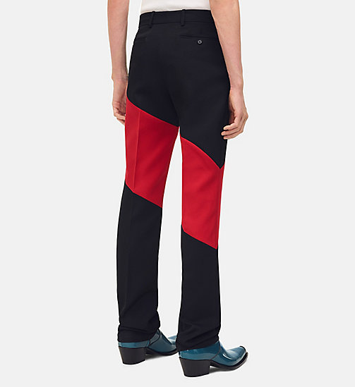 205W39NYC Striped Straight Leg Trousers - BLACK SCARLET - 205W39NYC CLOTHES - detail image 1