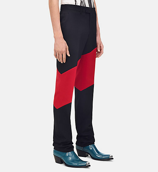 205W39NYC Striped Straight Leg Trousers - BLACK SCARLET - 205W39NYC CLOTHES - main image