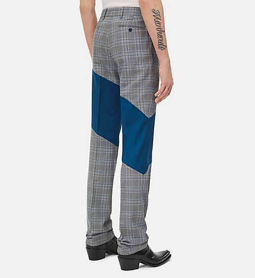 205W39NYC Striped Straight Leg Trousers - WHITE BLACK BLUE INK BLUE - 205W39NYC CLOTHES - detail image 1