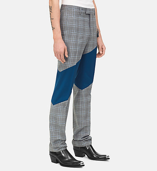 205W39NYC Pantalon droit à rayure - WHITE BLACK BLUE INK BLUE - 205W39NYC VÊTEMENTS - image principale