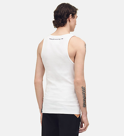 "205W39NYC Tanktop ""Building with American Flag"" - OPTIC WHITE - 205W39NYC KLEIDUNG - main image 1"