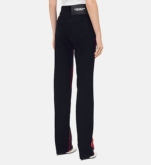 205W39NYC Flowers High Rise Straight Jeans - BLACK RED - 205W39NYC CLOTHES - detail image 1