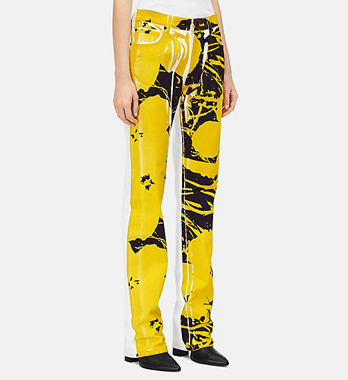 205W39NYC Flowers High Rise Straight Jeans - WHITE YELLOW BLACK - 205W39NYC CLOTHES - detail image 1