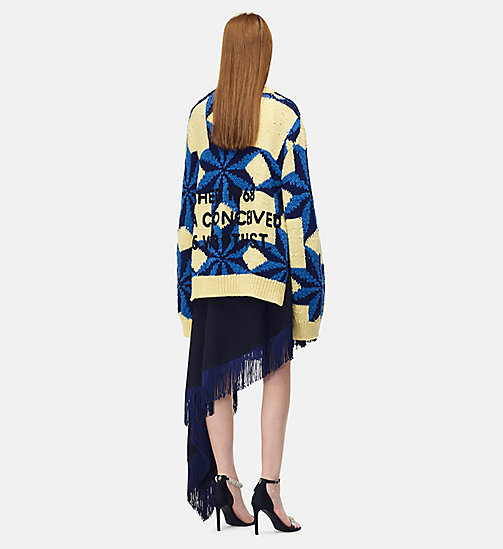 205W39NYC Embroidered Quilted Jumper - PASTEL YELLOW STEEL BLUE ROYAL BLUE - 205W39NYC CLOTHES - detail image 1