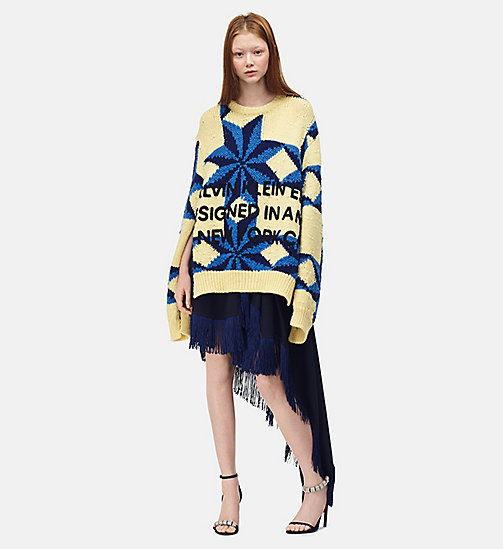 205W39NYC Embroidered Quilted Jumper - PASTEL YELLOW STEEL BLUE ROYAL BLUE - 205W39NYC CLOTHES - main image