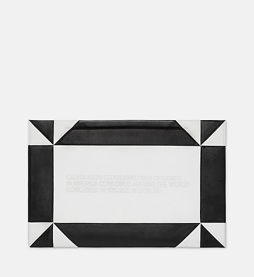 205W39NYC Oversized Quilted Clutch in Nappa Leather - WHITE BLACK - 205W39NYC SHOES & ACCESSORIES - main image