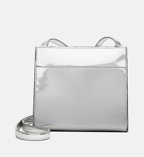 205W39NYC Embossed Flap Crossbody in Calf Leather - SILVER - 205W39NYC SHOES & ACCESSORIES - detail image 1