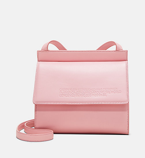 205W39NYC Embossed Flap Crossbody in Calf Leather - PINK PANTER - 205W39NYC SHOES & ACCESSORIES - main image