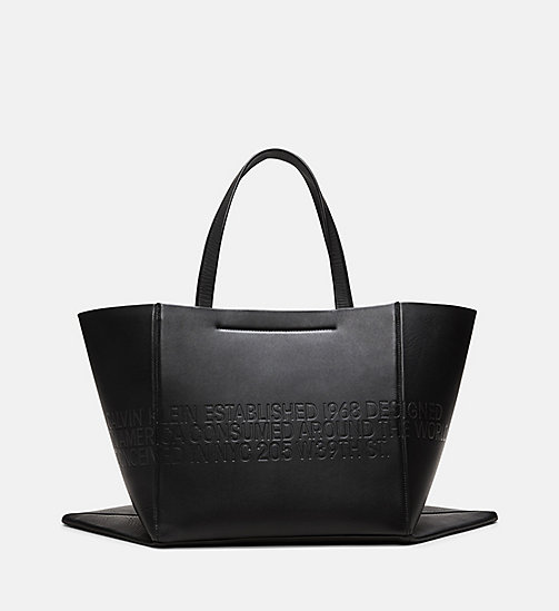 205W39NYC Embossed Quilted Tote in Nappa Leather - BLACK - 205W39NYC SHOES & ACCESSORIES - detail image 1