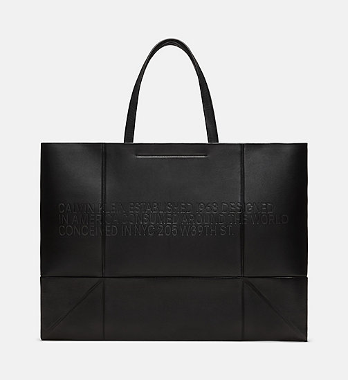 205W39NYC Embossed Quilted Tote in Nappa Leather - BLACK - 205W39NYC SHOES & ACCESSORIES - main image