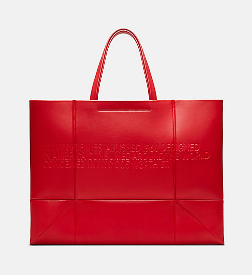 205W39NYC Embossed Quilted Tote in Nappa Leather - BRIGHT RED - 205W39NYC SHOES & ACCESSORIES - main image