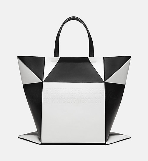 205W39NYC Oversized Quilted Tote in Nappa Leather - WHITE BLACK - 205W39NYC SHOES & ACCESSORIES - detail image 1