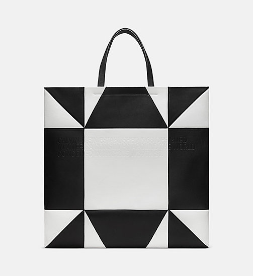 205W39NYC Oversized Quilted Tote in Nappa Leather - WHITE BLACK - 205W39NYC SHOES & ACCESSORIES - main image