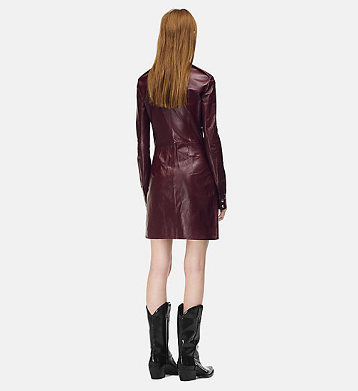205W39NYC Leather Uniform Shirt Dress - MULBERRY - 205W39NYC CLOTHES - detail image 1