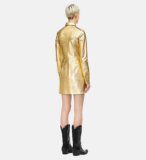 205W39NYC Leather Uniform Shirt Dress - GOLD - 205W39NYC CLOTHES - detail image 1