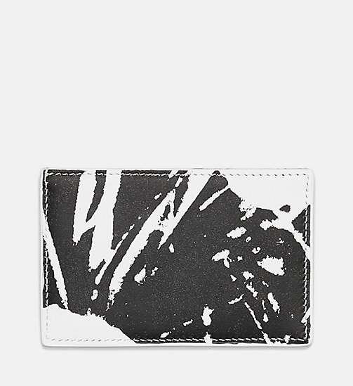 205W39NYC Flowers Small Card Case in Calf Leather - WHITE/BLACK - 205W39NYC SHOES & ACCESSORIES - detail image 1
