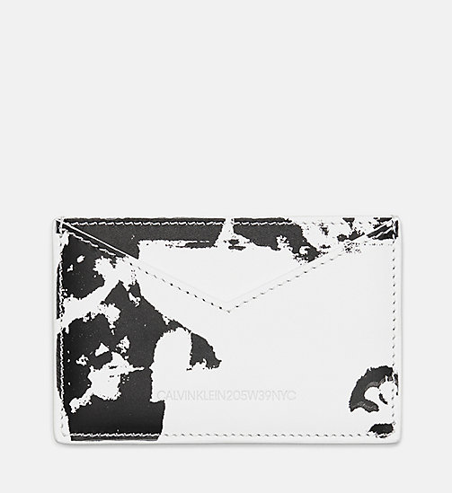 205W39NYC Flowers Small Card Case in Calf Leather - WHITE BLACK - 205W39NYC SHOES & ACCESSORIES - main image