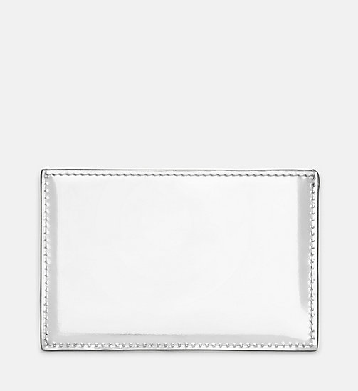 205W39NYC Small Card Case in Metallic Leather - SILVER - 205W39NYC SHOES & ACCESSORIES - detail image 1