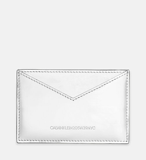 205W39NYC Small Card Case in Metallic Leather - SILVER - 205W39NYC SHOES & ACCESSORIES - main image