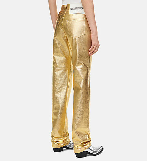 205W39NYC Goudleren high rise straight jeans - GOLD - 205W39NYC KLEDING - detail image 1